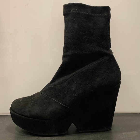 Robert Clergerie Shoes - Robert Clergerie for Barney's NY suede wedge boot